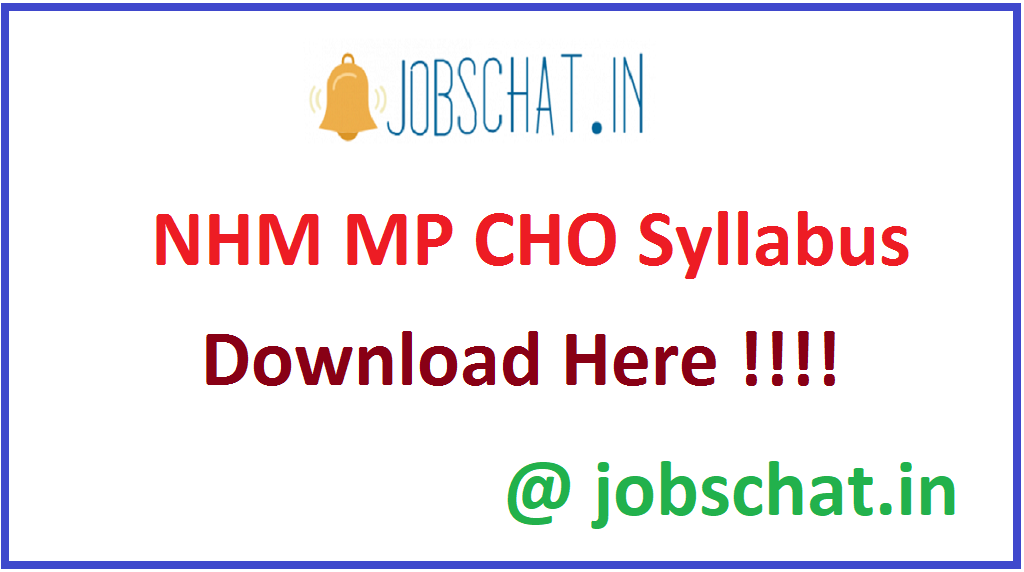 NHM MP CHO Syllabus
