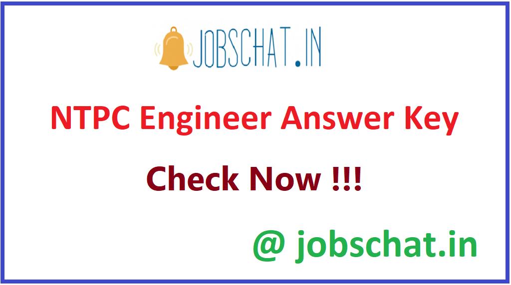 NTPC Engineer Answer Key