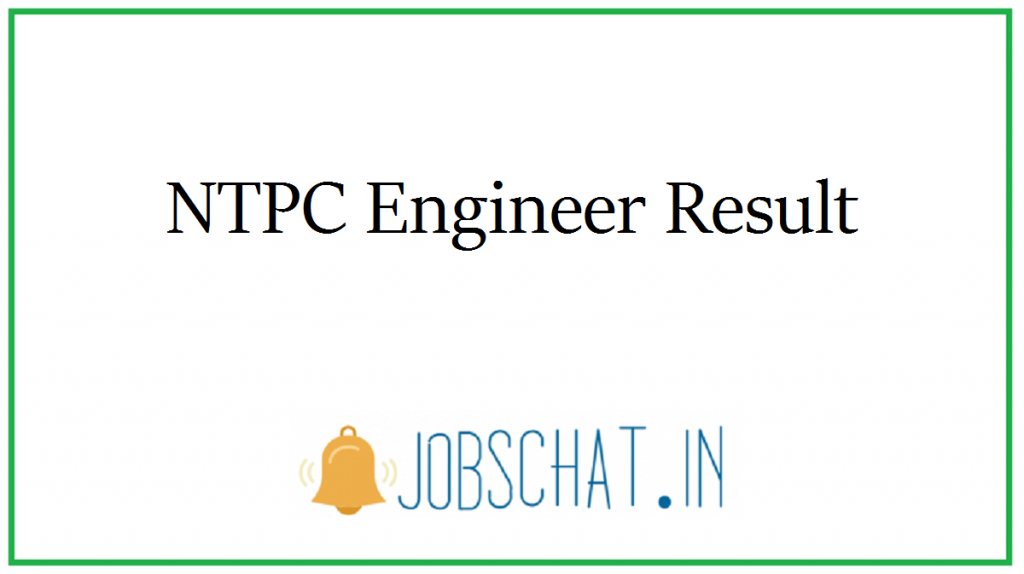 NTPC Engineer Result