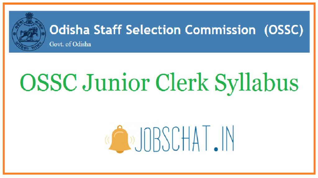 OSSC Junior Clerk Syllabus