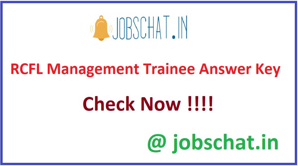 RCFL Management Trainee Answer Key