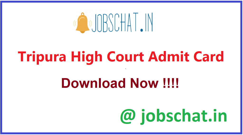 Tripura High Court Admit Card