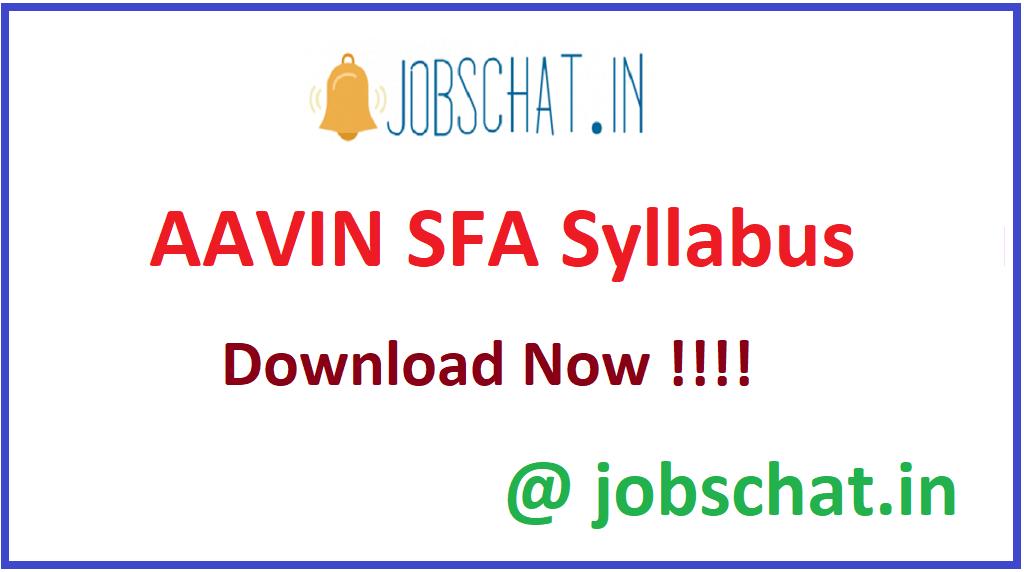 AAVIN SFA Syllabus