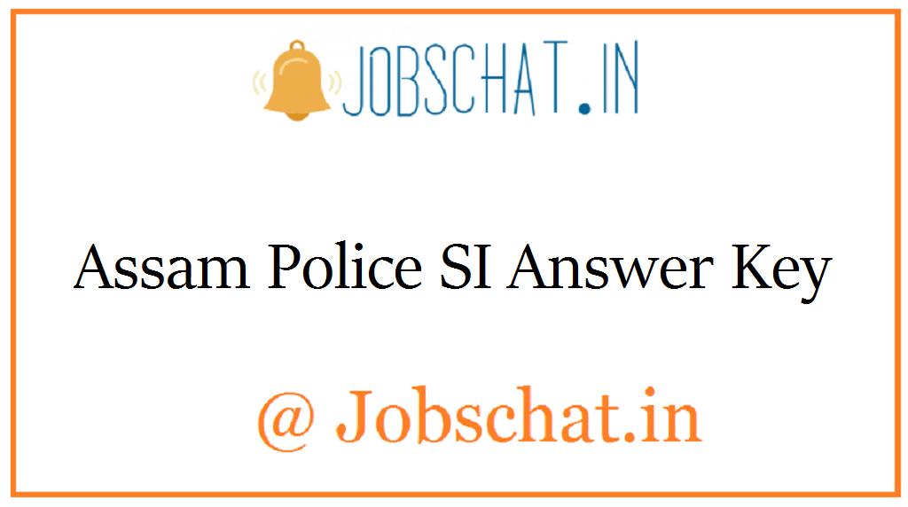 Assam Police SI Answer Key