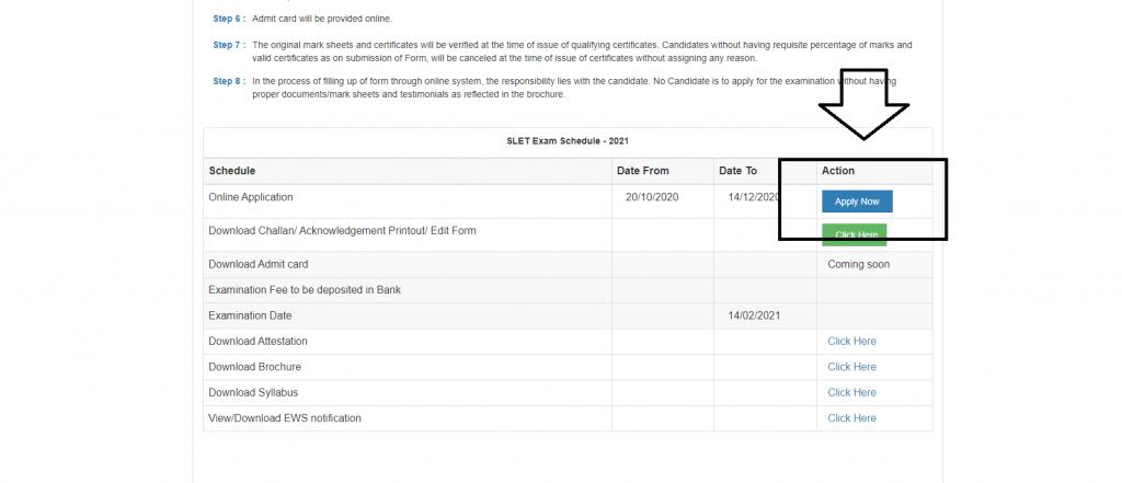 Assam SLET Notification Application Form
