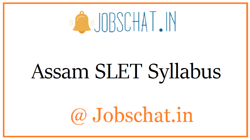 Assam SLET Syllabus