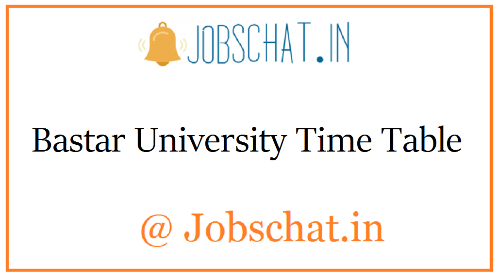 Bastar University Time Table