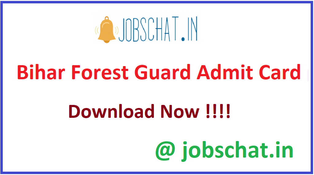 Bihar Forest Guard Admit Card