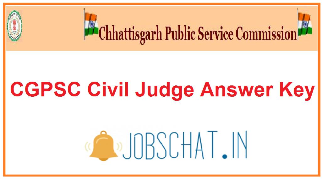 CGPSC Civil Judge Answer Key