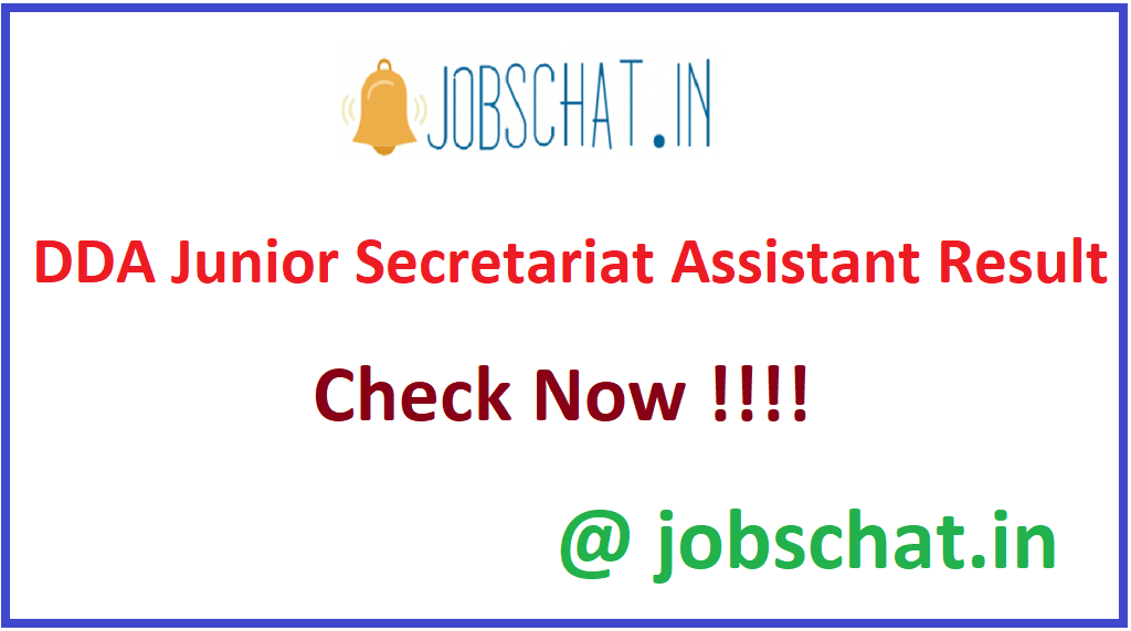 DDA Junior Secretariat Assistant Result