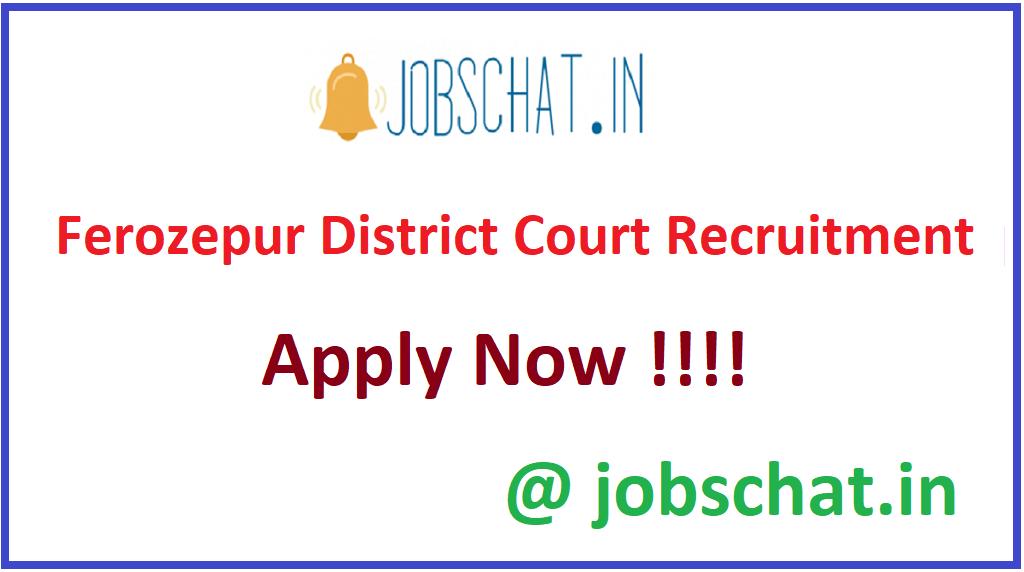 Ferozepur District Court Recruitment