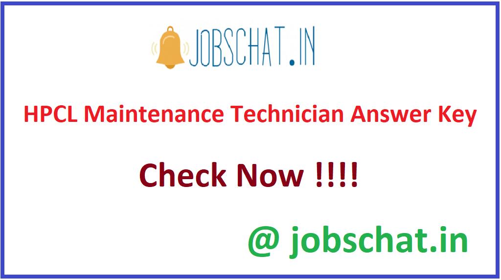 HPCL Maintenance Technician Answer Key