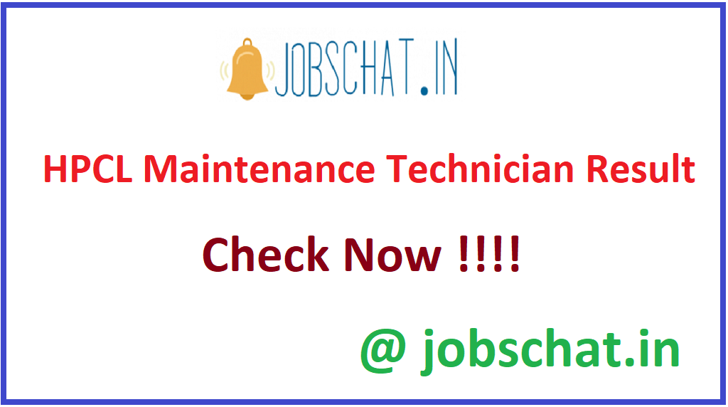 HPCL Maintenance Technician Result