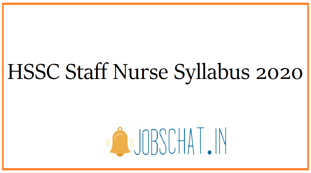 HSSC Staff Nurse Syllabus