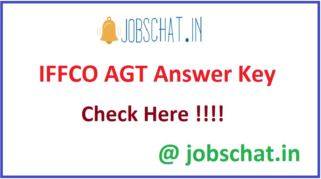 IFFCO AGT Answer Key