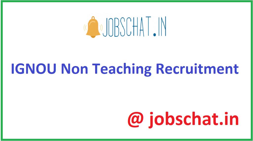 IGNOU Non Teaching Recruitment