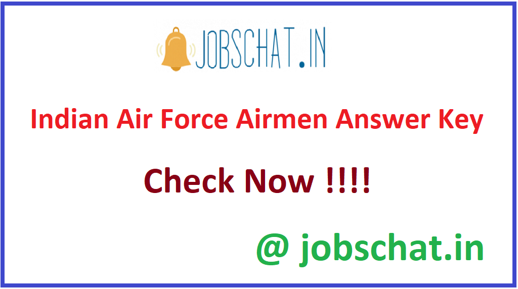Indian Air Force Airmen Answer Key