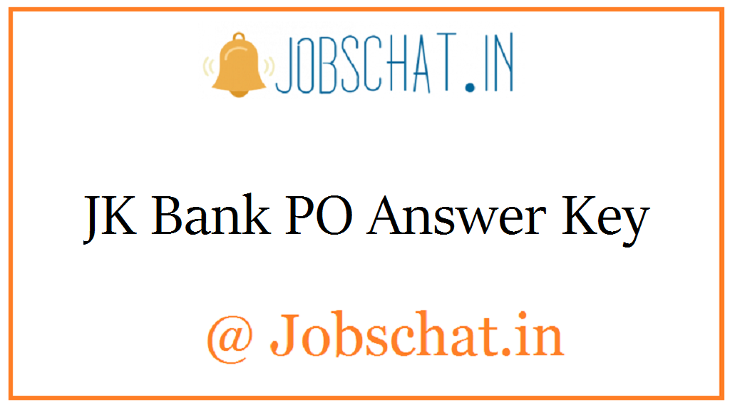 JK Bank PO Answer Key