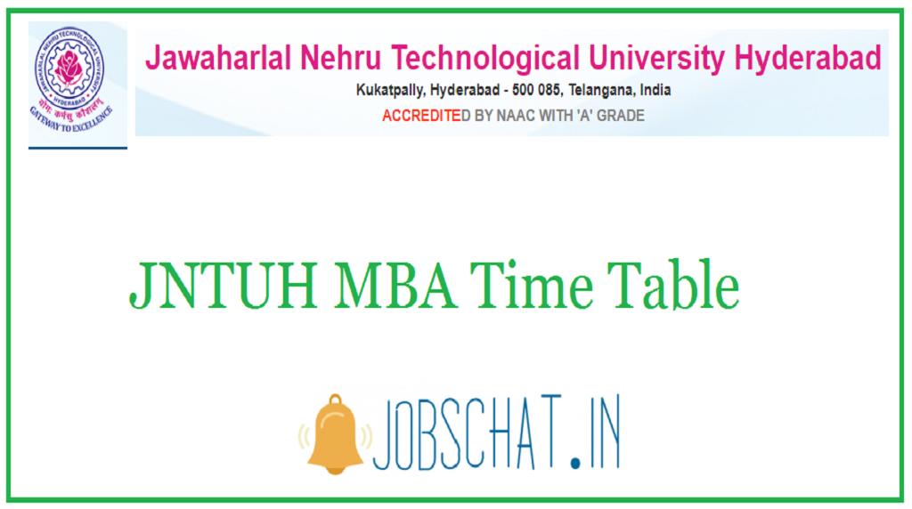 JNTUH MBA Time Table