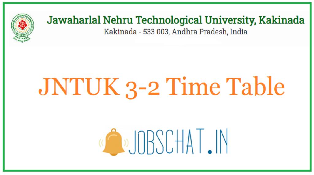JNTUK 3-2 Time Table