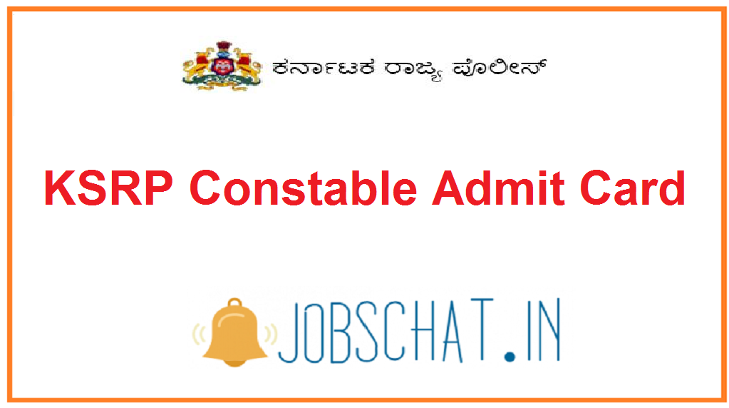 KSRP Constable Admit Card