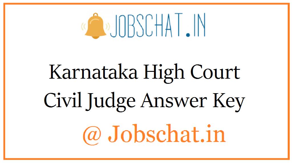 Karnataka High Court Civil Judge Answer Key