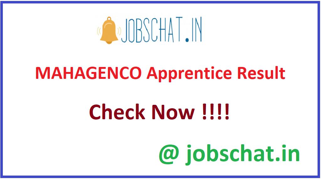 MAHAGENCO Apprentice Result