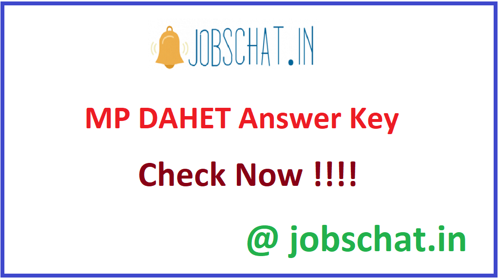 MP DAHET Answer Key