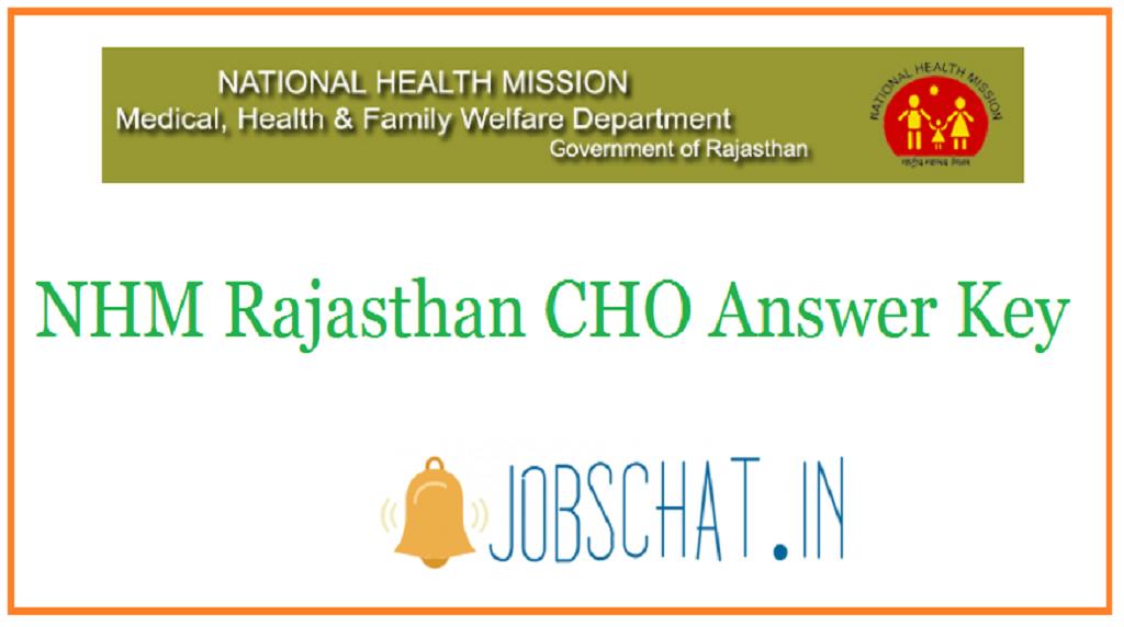 NHM Rajasthan CHO Answer Key