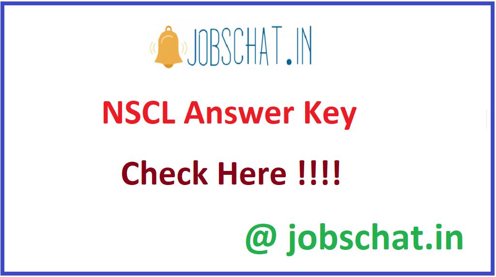 NSCL Answer Key