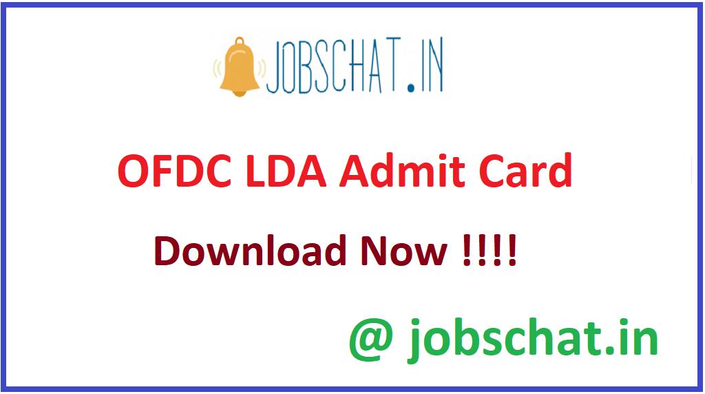 OFDC LDA Admit Card