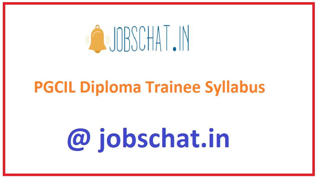 PGCIL Diploma Trainee Syllabus