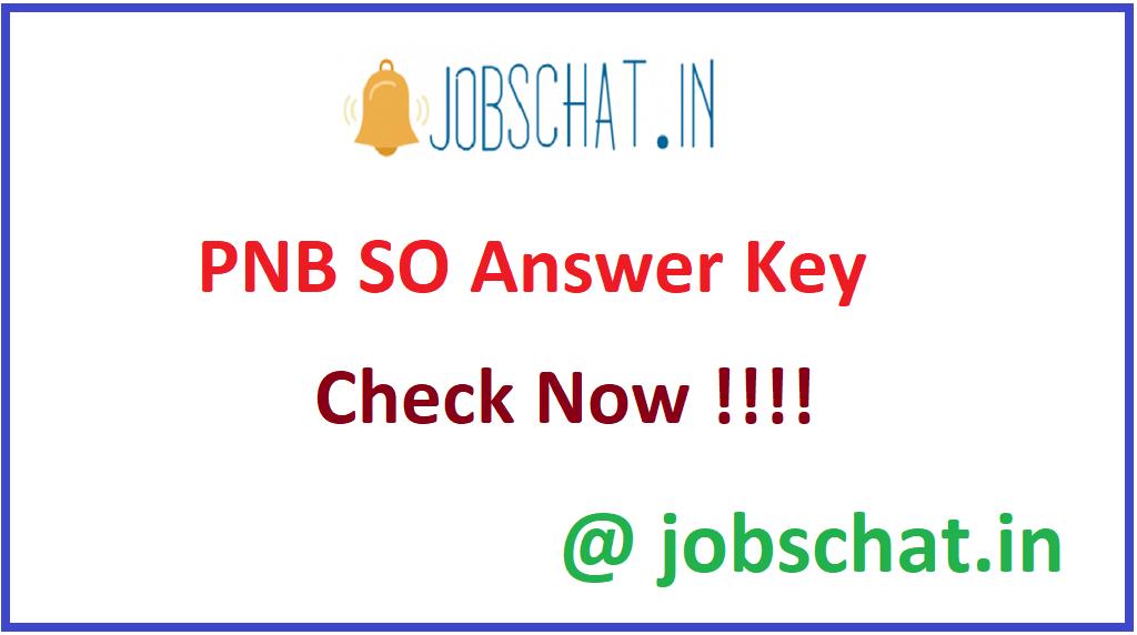 PNB SO Answer Key