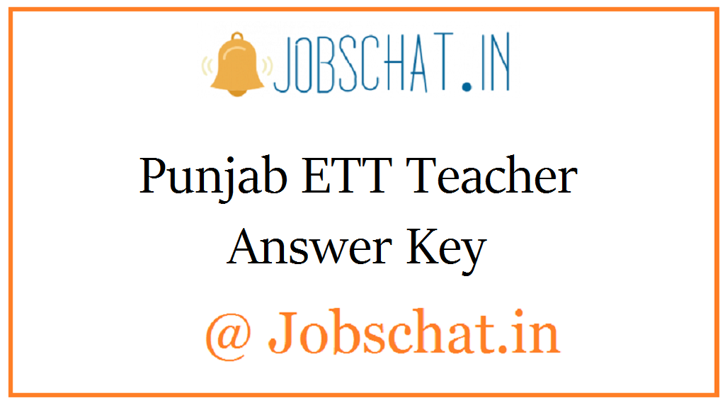 Punjab ETT Teacher Answer Key