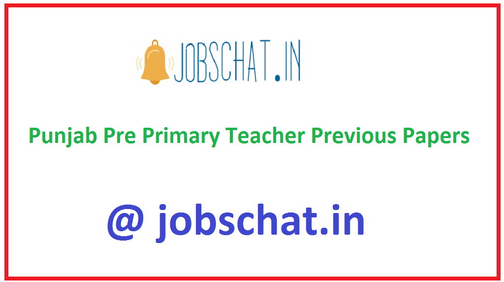 Punjab Pre Primary Teacher Previous Papers