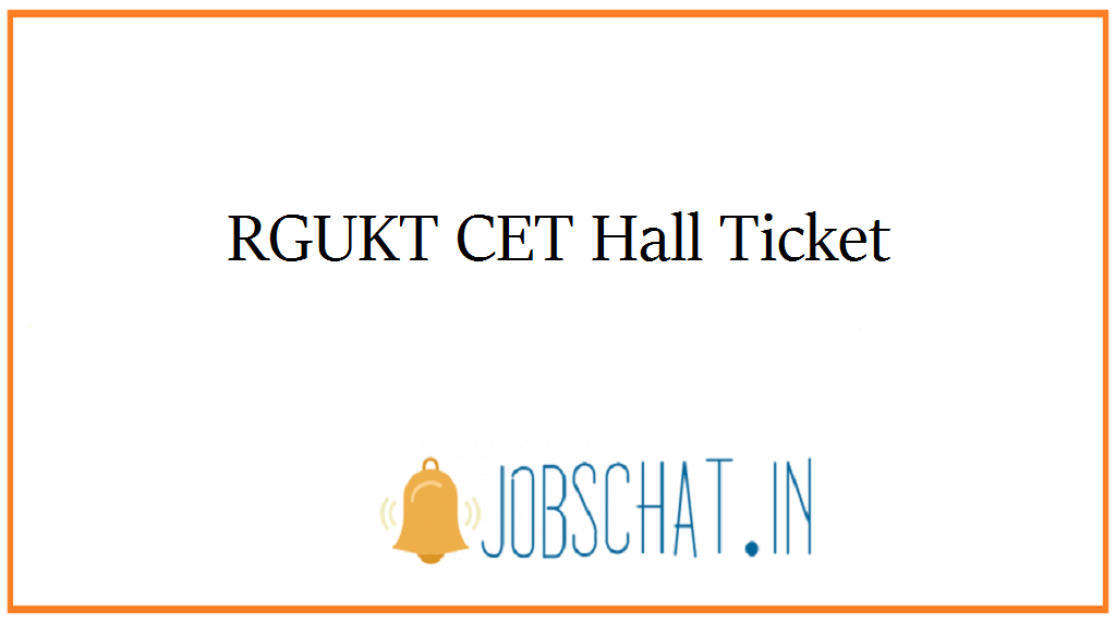 RGUKT CET Hall Ticket