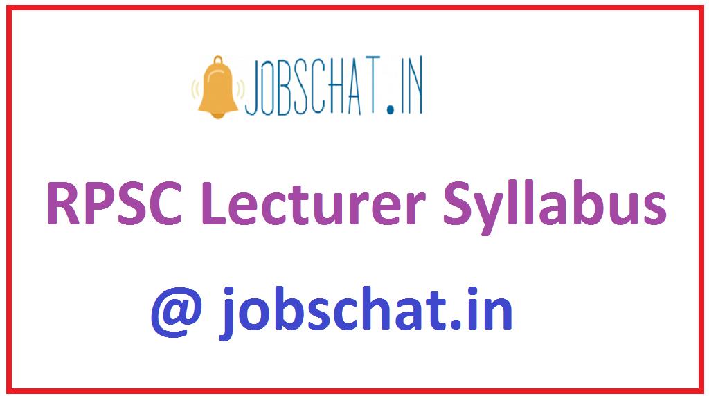 RPSC Lecturer Syllabus