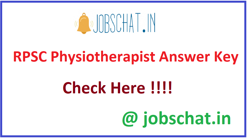 RPSC Physiotherapist Answer Key