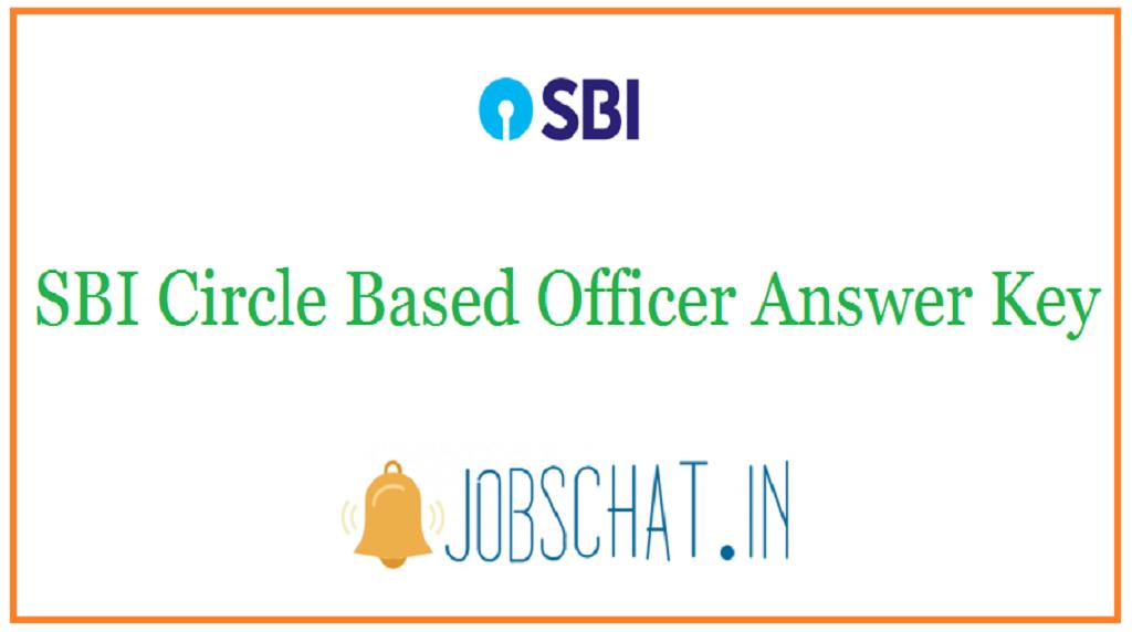 SBI Circle Based Officer Answer Key