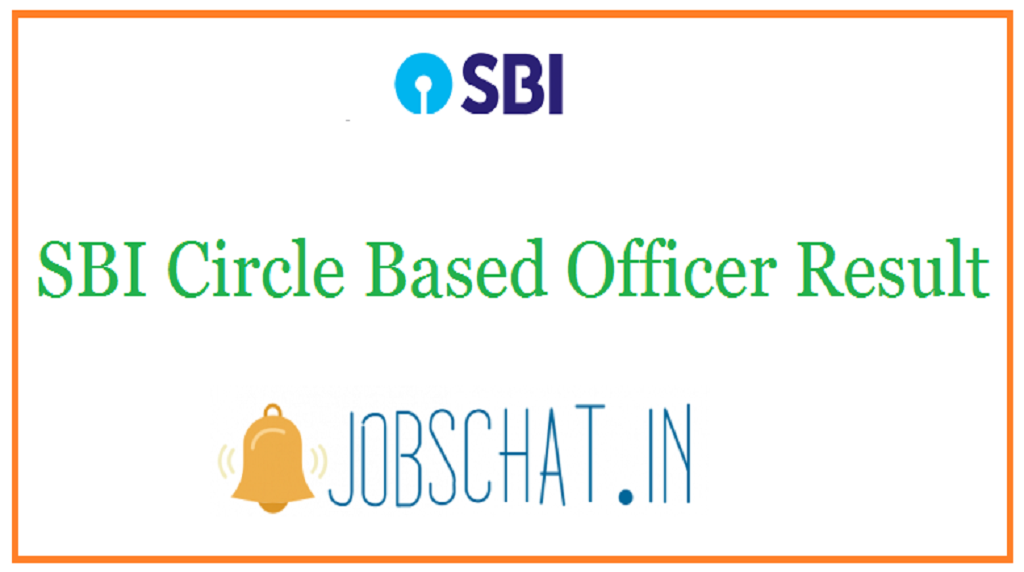 SBI Circle Based Officer Result