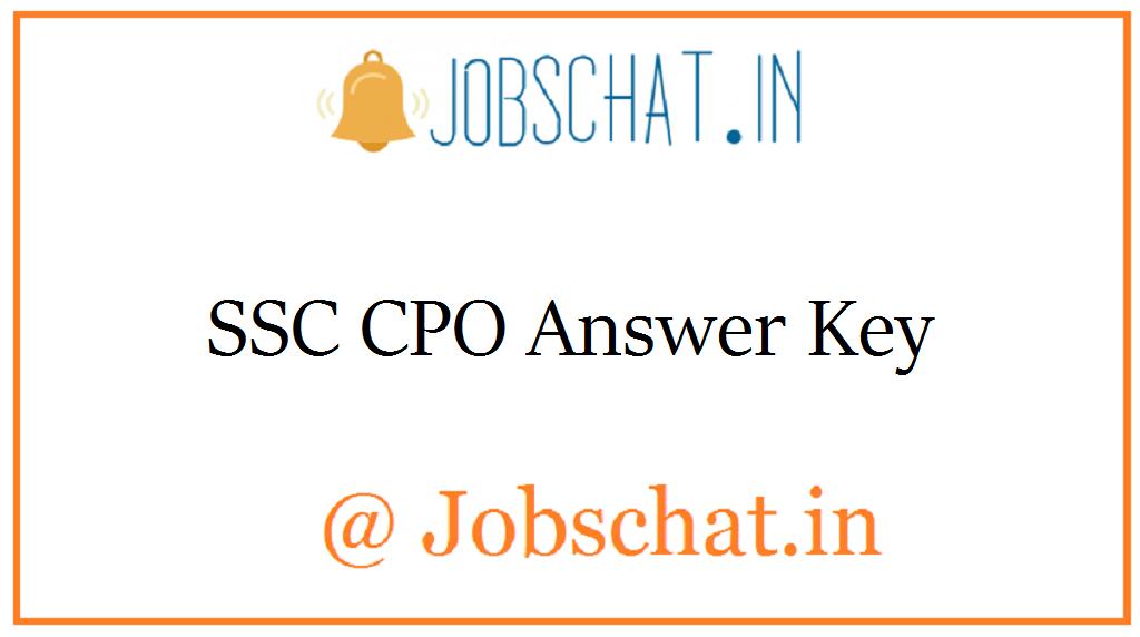 SSC CPO Answer Key