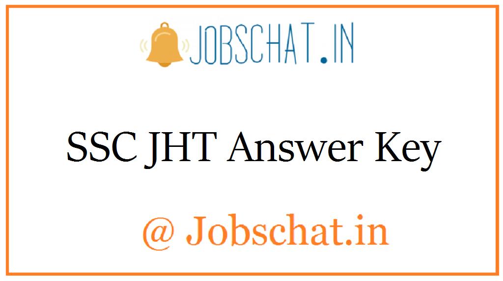 SSC JHT Answer Key