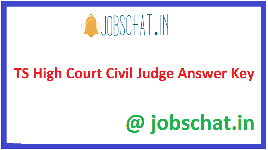 TS High Court Civil Judge Answer Key