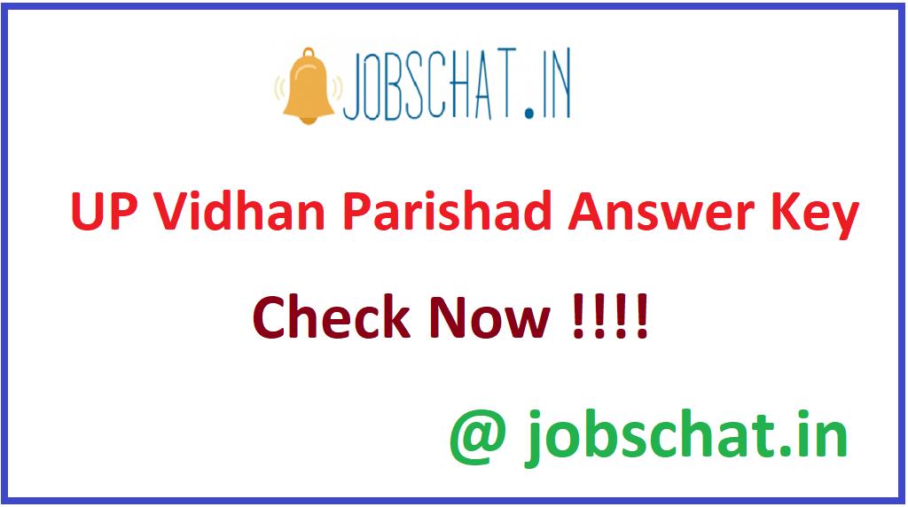 UP Vidhan Parishad Answer Key