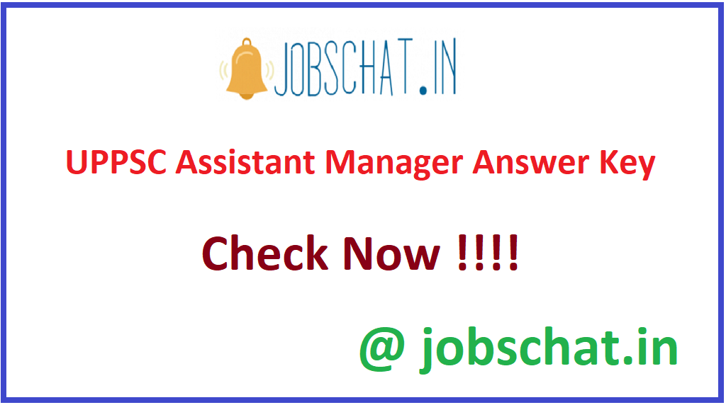 UPPSC Assistant Manager Answer Key