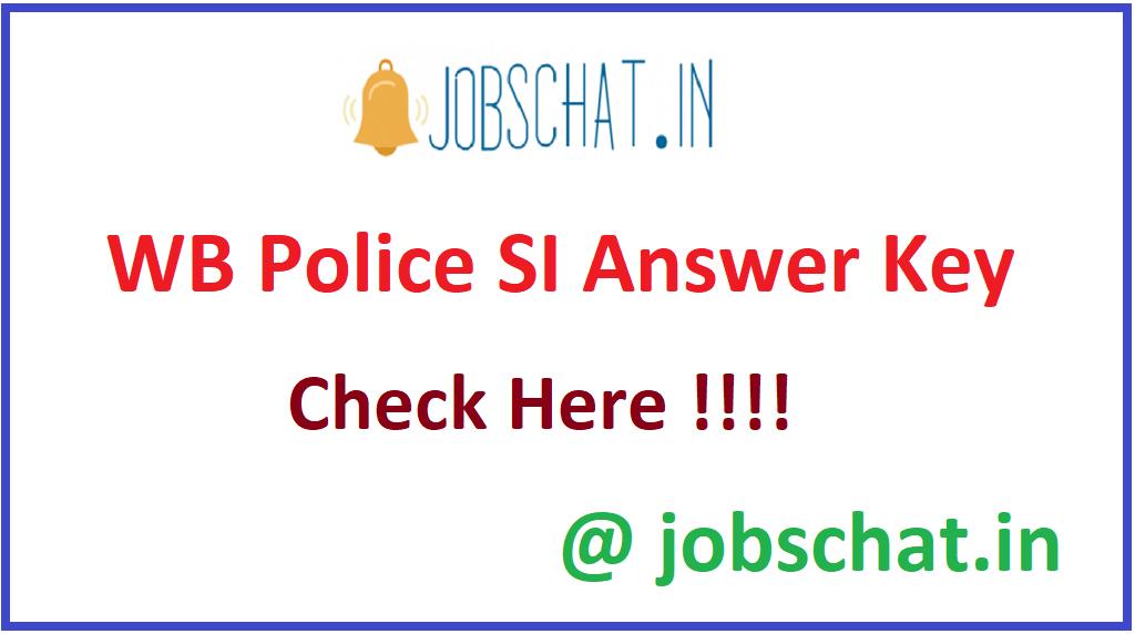WB Police SI Answer Key