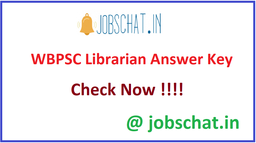 WBPSC Librarian Answer Key 2020