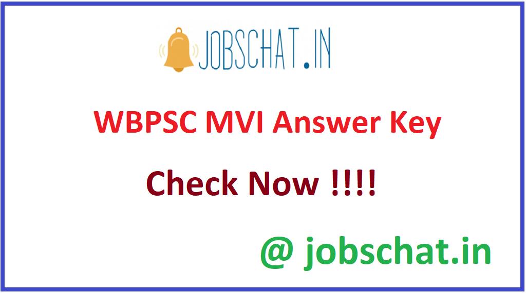 WBPSC MVI Answer Key