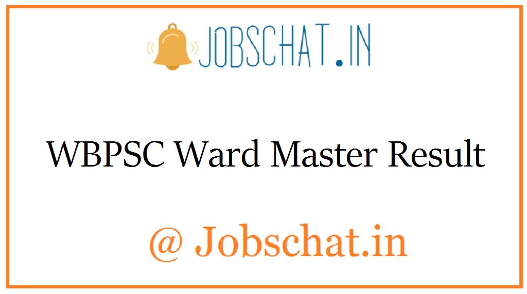 WBPSC Ward Master Result