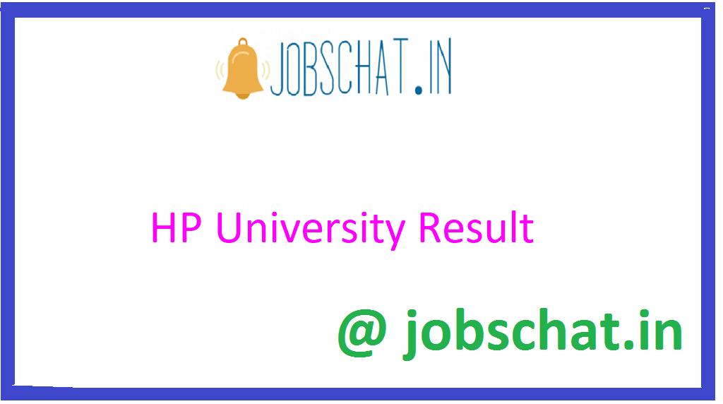 HP University Result